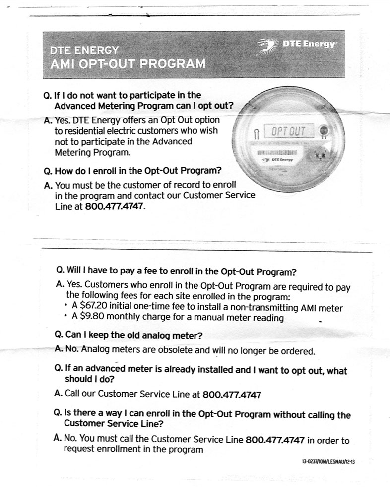 Smart Meter Opt Out Letter.Smart Meter Education Network Dte Opt Out Program